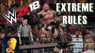 WWE 2K18 Exclusive Gameplay: ECW Fatal 4 Way w: RVD, Batista, Kurt Angle! New Batista Bomb Five Star