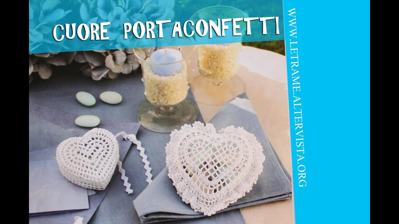 Super Tutorial Bomboniera all' uncinetto - Scrigno a cuore (crochet) 1/3  EO96