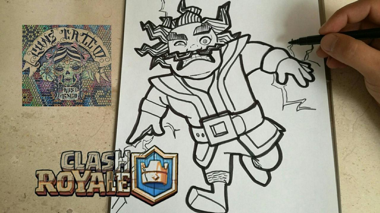 Clash Royale Personajes Para Colorear: COMO DIBUJAR AL MAGO ELECTRICO