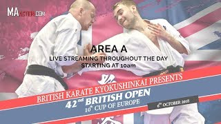 British Karate Kyokushinkai presents 42nd British Open/10th Cup of Europe LIVE - Area A