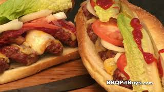 Bacon Cheeseburger Grinders Recipe By The Bbq Pit Boys