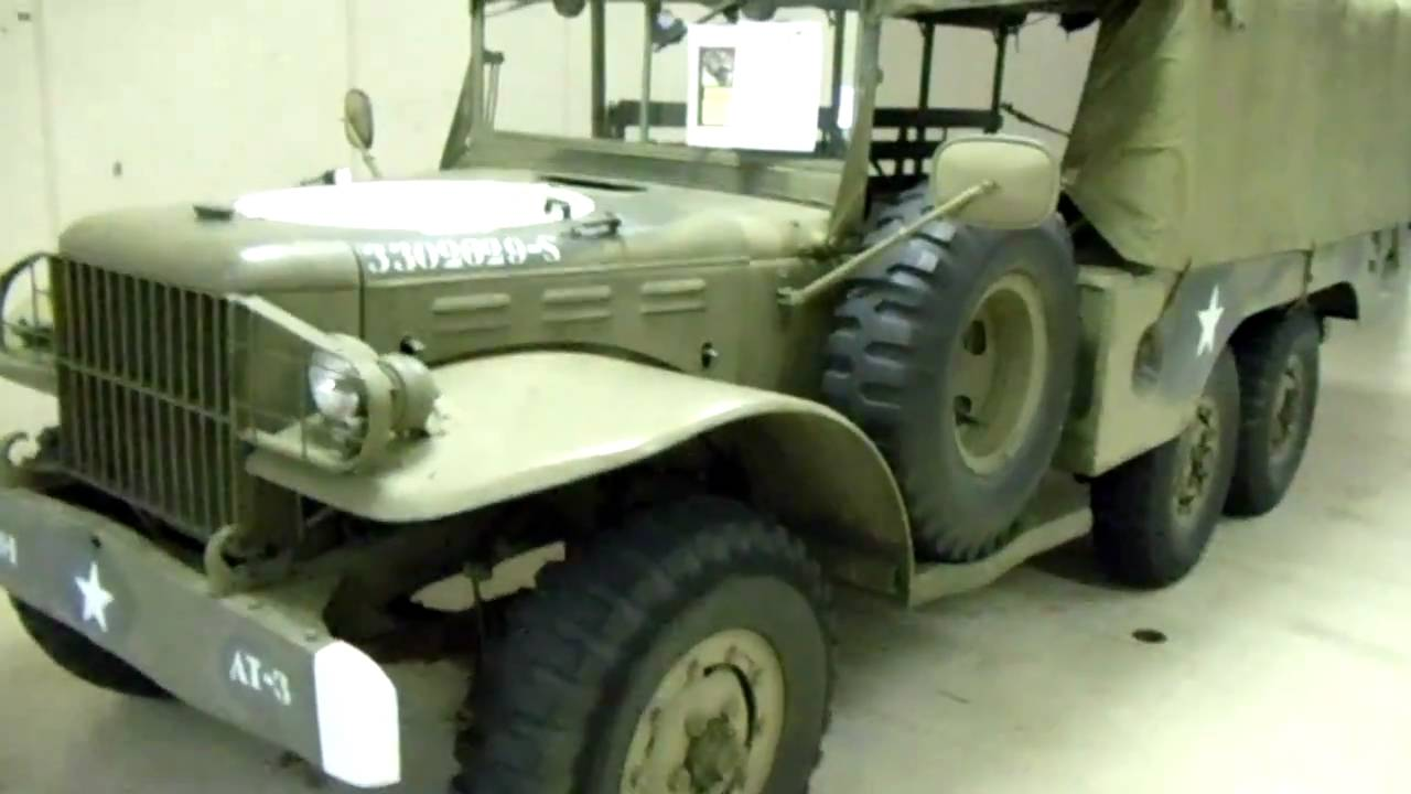 1945 Dodge Wc62 6x6 1 5 Ton Cargo Truck And Willys Jeep