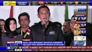 Ksatria! Agus-Sylvi Akui Kekalahan Di Pilkada DKI 2017
