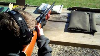 Guybo Shooting Remington 22 Rifle