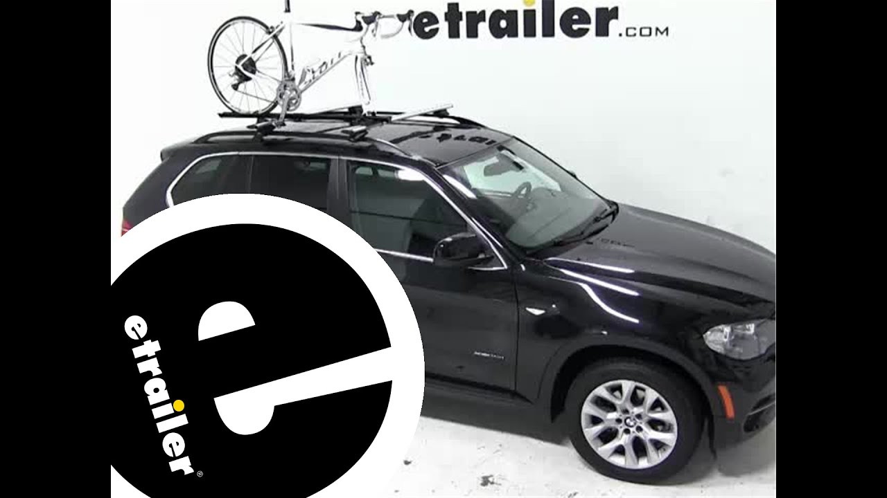 Review of the swagman fork down roof bike rack on a 2013 bmw x5 etrailer com
