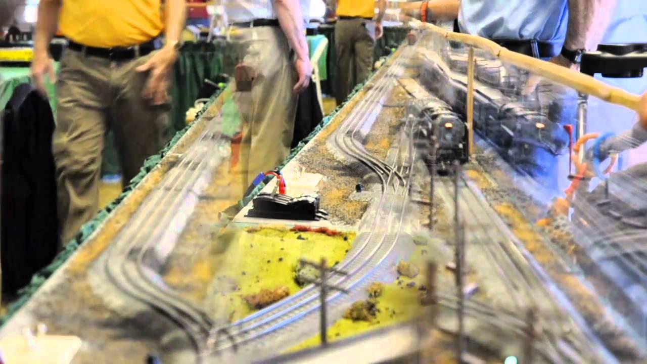 Lionel O Gauge Model Train Exhibit At Hudson Gardens Youtube