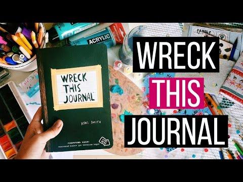 Wreck This Journal // УНИЧТОЖЬ МЕНЯ // ИДЕИ И ПРОЦЕСС ОФОРМЛЕНИЯ WTJ #12
