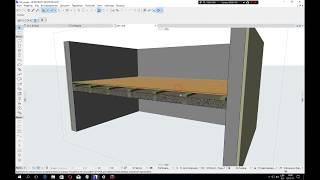 Деревянное междуэтажное перекрытие в ArchiCad 21