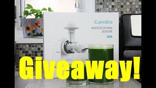 Invigorating Green Juice + Calmdo Juicer Giveaway | CaribbeanPot.com