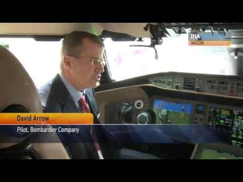 New Corporate Jets on Display near Moscow