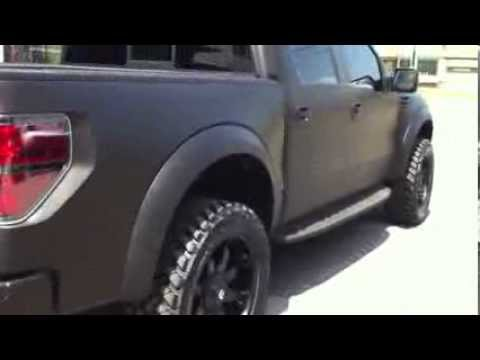 3m Matte Black Wrapped Ford F 150 Raptor With Rigid Led