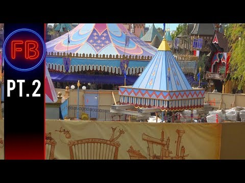 Views of Dumbo construction from Casey Jr. | Single take continues - 03/03/18 pt 2 [4K]