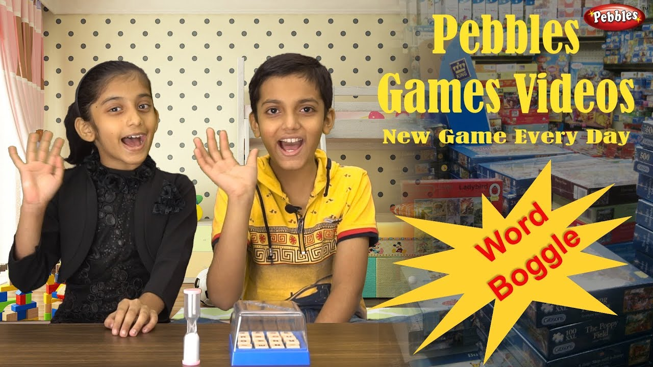 Word Boggle Game | Game Unboxing | Educational Game For Kids | Enjoy New Game Every Day with Pebbles