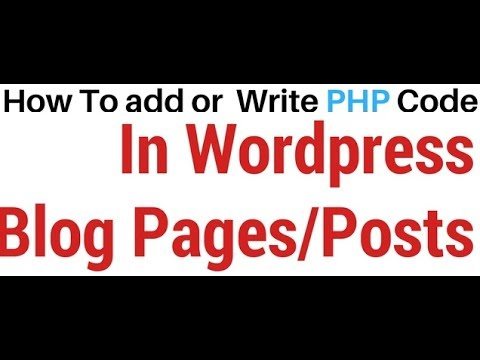 How to write php page