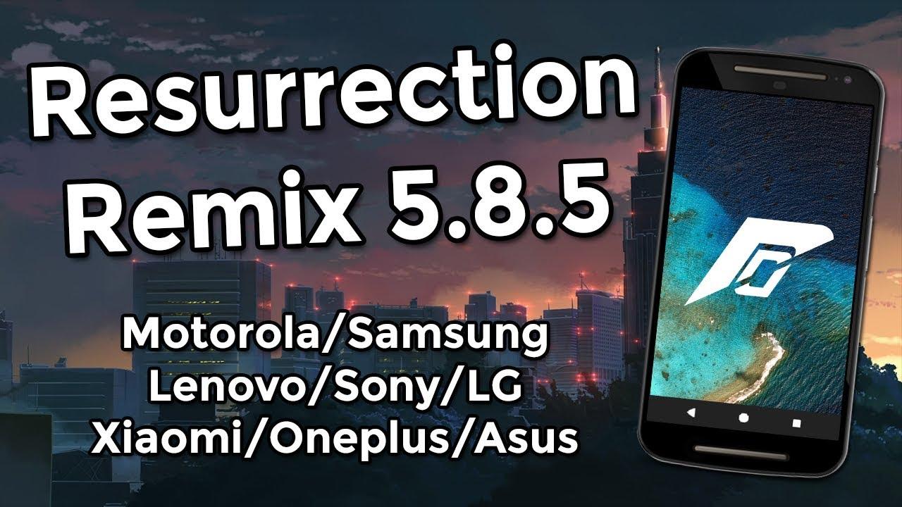 Resurrection Remix N v5 8 5 | Android 7 1 2 Nougat | MOTOROLA, SAMSUNG,  LENOVO, SONY, XIAOMI