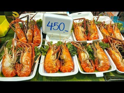 САМЫЙ БОЛЬШОЙ РЫНОК ЕДЫ в Тайланде. Ночной рынок Паттайя и УЛИЧНАЯ ЕДА. Таиланд #32