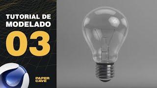 Tutorial Cinema 4D: Modelar un foco de luz (bombilla)