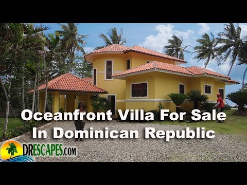 Ocean Front Villa Right On The Beach In Dominican Republic - For Sale At Bargain Price