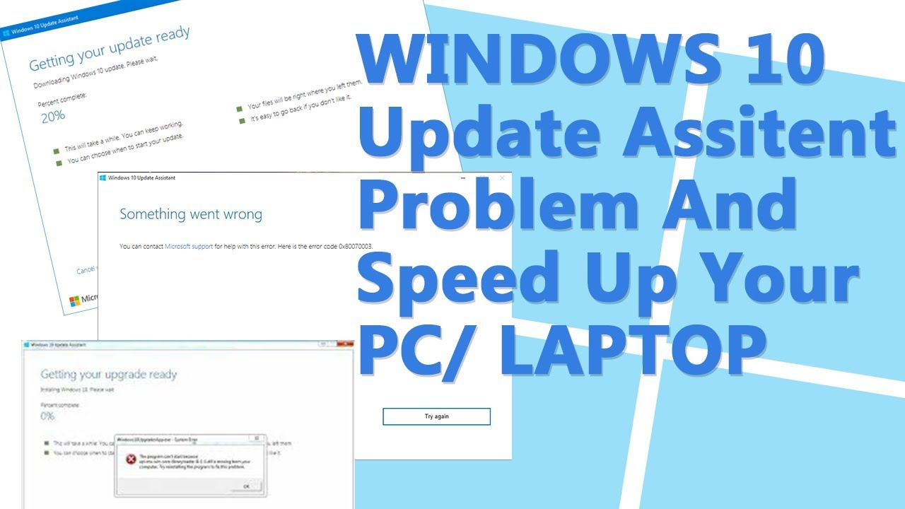 Solve Windows 10 Update Assistant Problems Permanently and Speed Up your  PC/Laptop [HINDI]