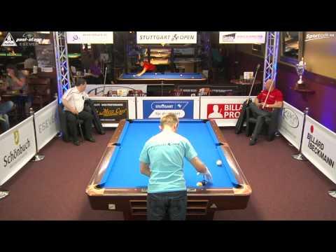 Stuttgart Open 2015, No. 08, Roman Hybler vs.Christoph Walrafen, 10-Ball, Pool-Billard
