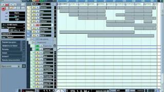 Сведение миди-дорожек в аудио в Cubase SX