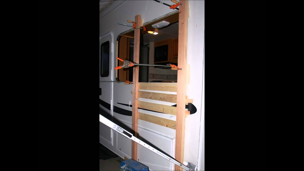 How To Fix Rv Wall Delamination Diy Fiberglass Siding Fix Youtube