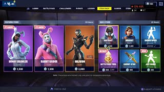 'NEW' JAZZ HANDS Emote - BUNNY, OBLIVION, CRITERION Skins are BACK - 7 avril Fortnite Item Shop