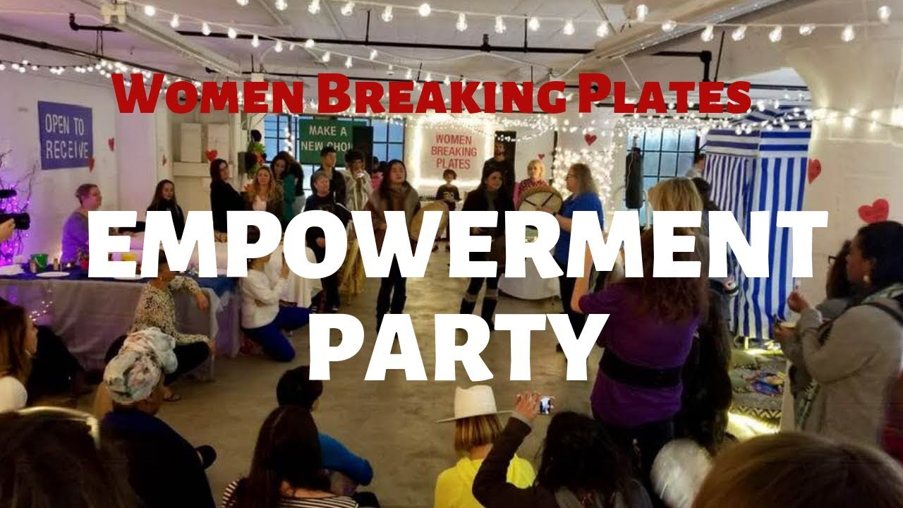 Women Breaking Plates Empowerment Party