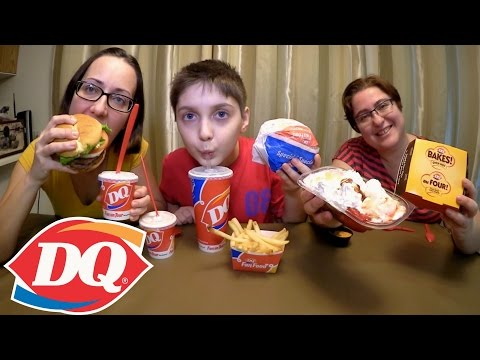 Trying Dairy Queen | Gay Family Mukbang (먹방) - Eating Show