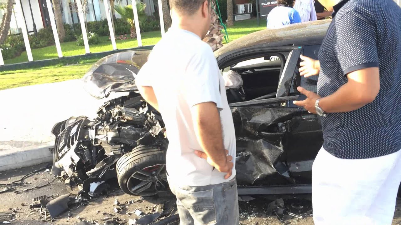 accident mortel au maroc 2015 porsche crash youtube. Black Bedroom Furniture Sets. Home Design Ideas