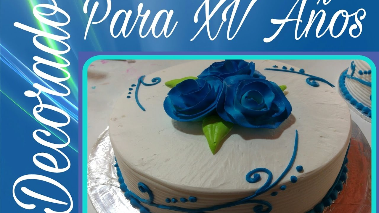 Pastel decorado para xv a os youtube for Como decorar un bizcocho