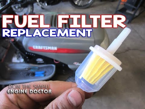HOW-TO Replace The Fuel Filter On A Lawn Tractor - YouTube