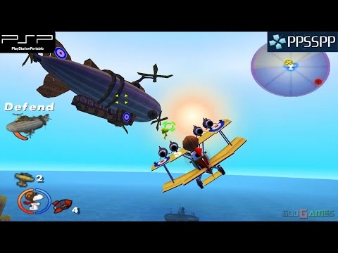 Snoopy vs. the Red Baron - PSP Gameplay 1080p (PPSSPP)