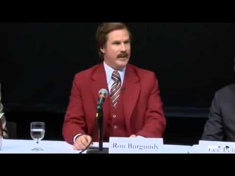 Ron Burgundy Emerson College Press Conference: Anchorman Reveals Key to Journalism Greatnes