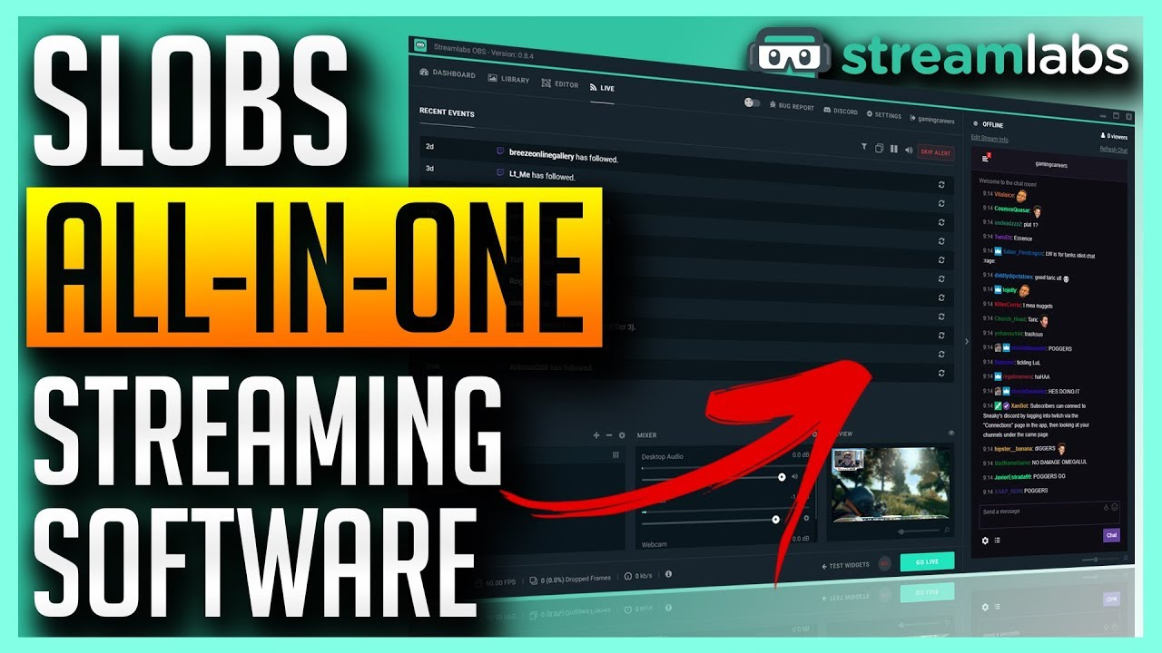 Streamlabs OBS Overview - All-In-One Streaming Application SLOBS