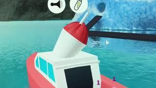 Giocando simulatore di furgone gelato! Roblox-Mostrando la mia nuova barca