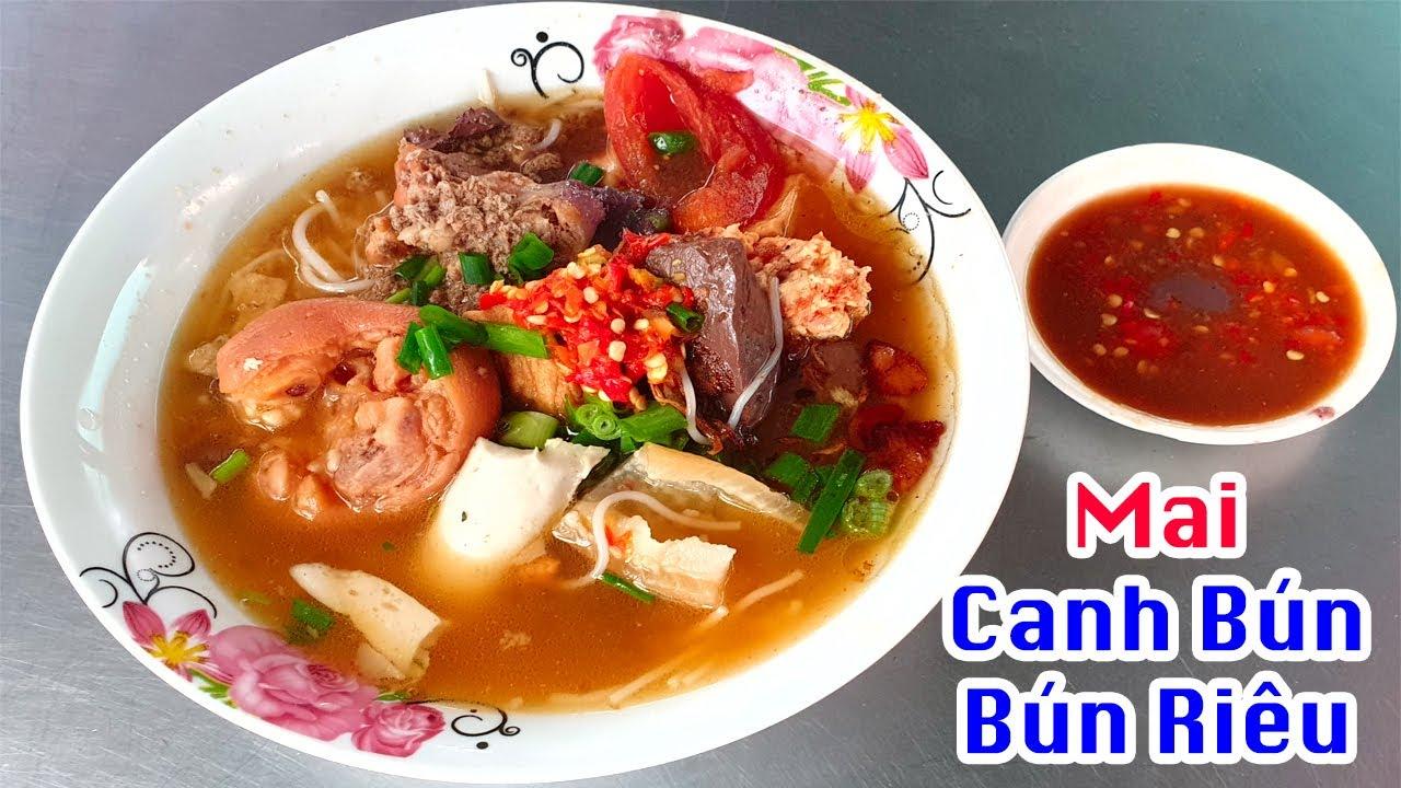Canh bún, bún riêu cô Mai hơn 30 năm nổi tiếng nhất chợ Lái Thiêu sau lưng bánh bèo bì – Vi Na TV