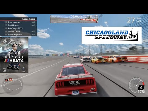 NASCAR Heat 4 Gameplay Chicagoland (5 Lap Quick Race) |