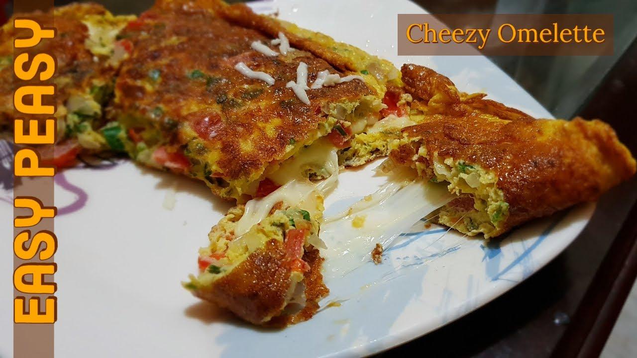 Cheese Omelette Recipe by Easy Peasy Recipes | Urdu ...
