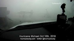eye of Hurricane Michael fierce winds as eye approaches in Callaway FL