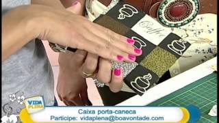 Artesanato – Caixa porta-caneca