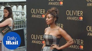Alexandra Burke wows in ruffled gown at Olivier Awards