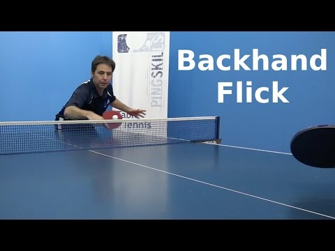 Download Backhand Flick | Table Tennis | PingSkills Images