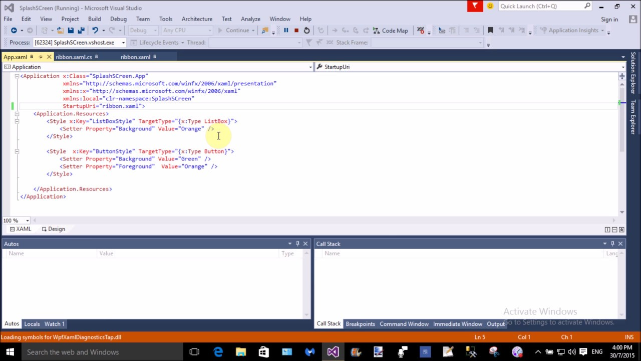 How to use Ribbon in WPF - YouTube