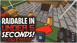 WE USED COW EGGS TO MAKE THEM RAIDABLE IN UNDER 5 SECONDS | Minecraft HCF