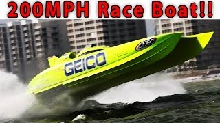200+ MPH Race Boat Tour: Miss Geico