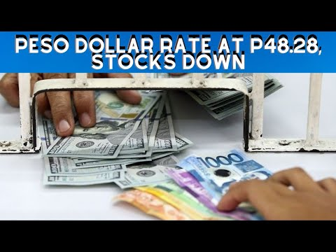 Peso dollar rate at P48.28, Stocks Down