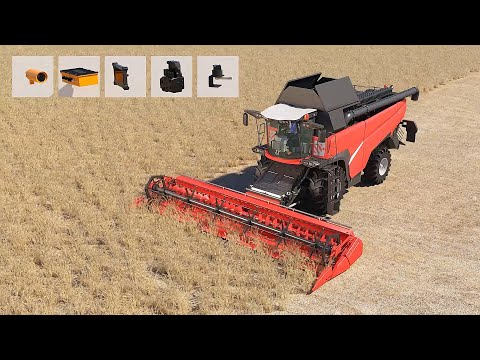 Self-driving combine harvester. The Cognitive Agro Pilot autonomous driving system in action