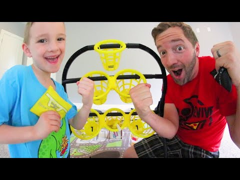 Father & Son PLAY BATTLE BAGS! / Who Will Win!?