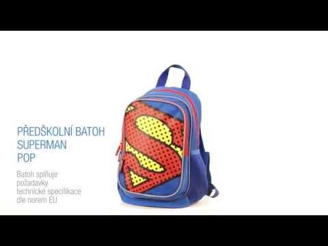 Předškolní batoh Superman – POP - YouTube b377000ba0